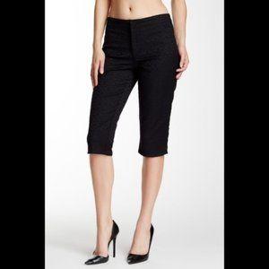 NYDJ Kaelin Textured Skimmer Pants in navy
